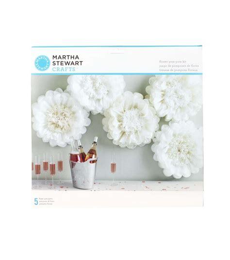 tissue paper flower tutorial martha stewart martha stewart tissue paper pom pom kit white flower