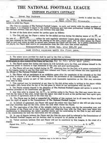 football contract template 1944 green bay packers contract astuteo