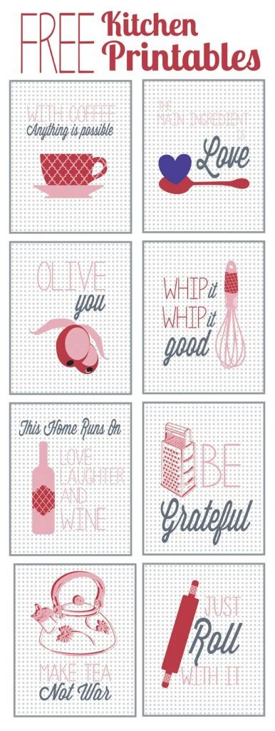 Free Kitchen Printables by Kitchen Printables Guest Post At Happy Housie