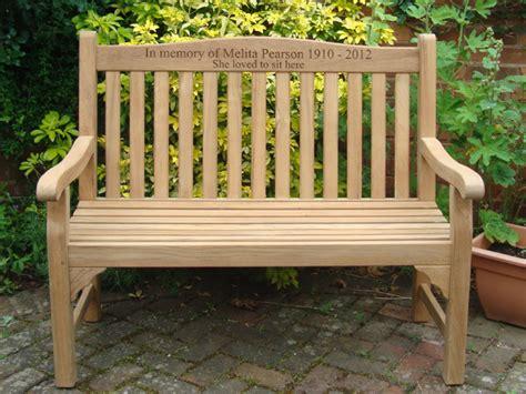teak memorial benches warwick 1 2m fsc certified teak memorial bench