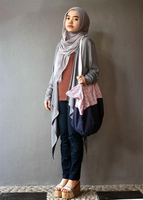Busana Muslim Terkini Gambar Cardigan Bronze Cardigan