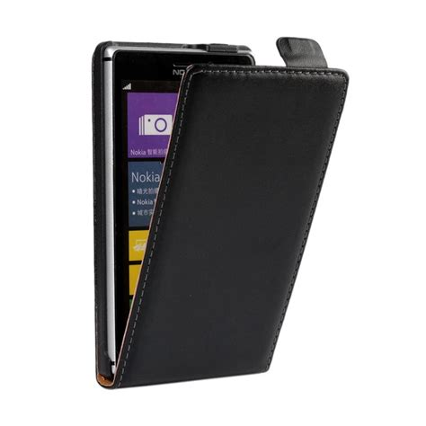 Flip Cover Hp Nokia X genuine leather cover flip for nokia lumia xl 515 625