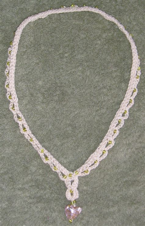 crochet pattern for heart necklace file crochet glass heart necklace jpg wikimedia commons
