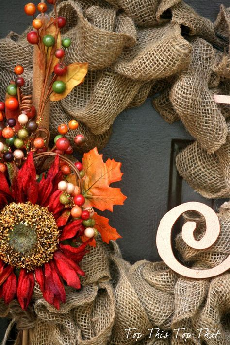 fall wreaths the easiest fall burlap wreath tutorial duke manor farm