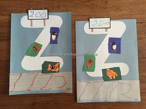craft projects for preschoolers alphabet crafts letter z crafts for preschool preschool