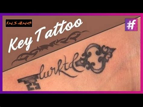 how to make a permanent tattoo how to make a key permanent tutorial