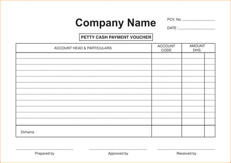 petty receipt voucher template best photos of sle petty form petty form