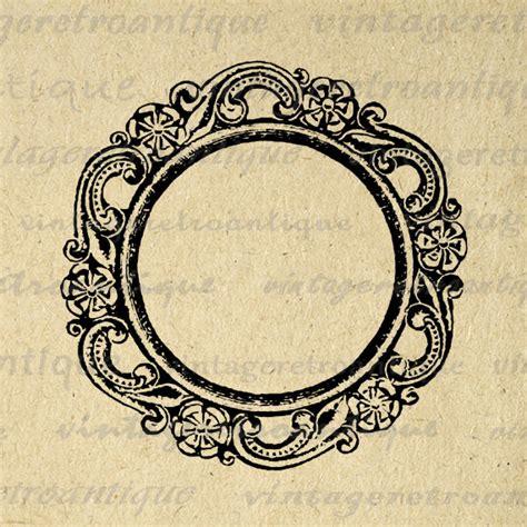 frame design high resolution printable digital elegant circle frame graphic design