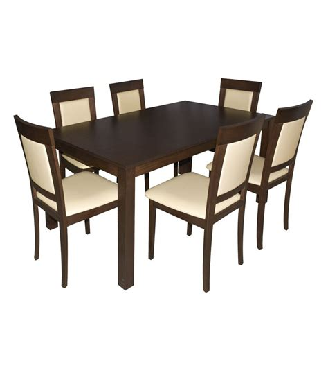 Six Seater Dining Table Eros Six Seater Dining Table Set Best Price In India On 19th February 2018 Dealtuno