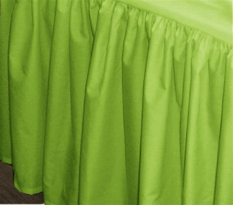 lime green bed skirt lime green bedskirt regular or extra long
