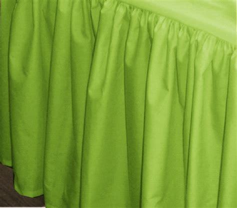 green bed skirt lime green bedskirt regular or extra long