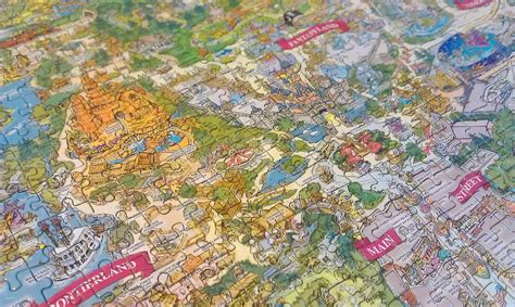 disneyland decorative border puzzle map disneyland theme park 1000 puzzle related keywords