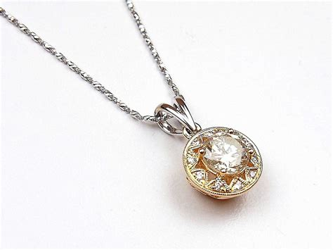 Two Tone Necklace 1 38 ctw two tone necklace 14k gold arnold