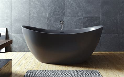 Bathtub Web by Aquatica Purescape 171 Black Freestanding Solid Surface