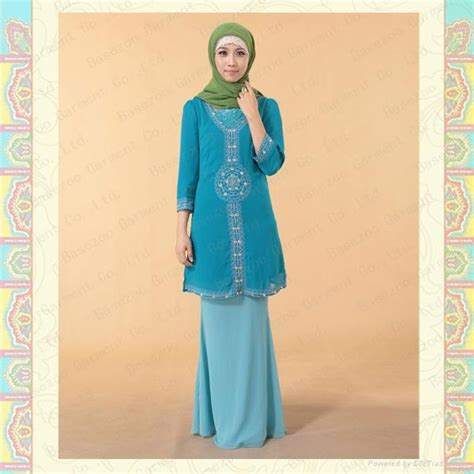 baju china mf17820 women s muslim crepe baju kurung indenesia