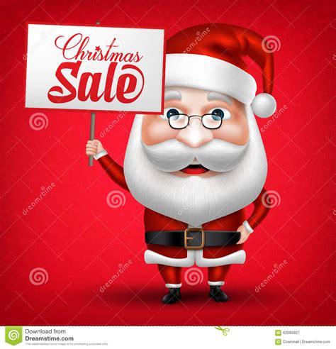 ventas dd crismas cartel de la venta de santa claus character holding ilustraci 243 n vector
