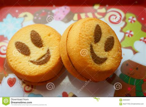 healthy new year cookies cookies smile stock photo image 63055697