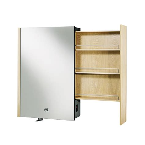 kohler surface mount medicine cabinet shop kohler purist 24 in x 36 in white oak metal surface
