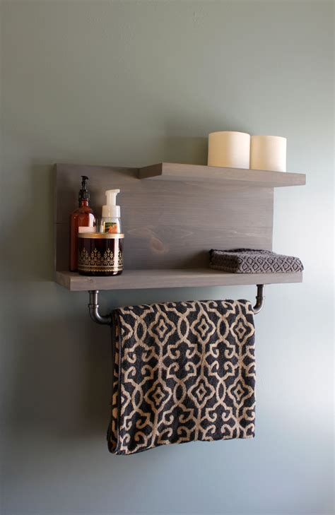 Modern Bathroom Shelves Modern Industrial Floating Bathroom Wall Shelf By Wendellsworkshop