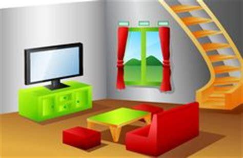 Livingroom Or Living Room Cartoon Family Living Room Stock Photos Images