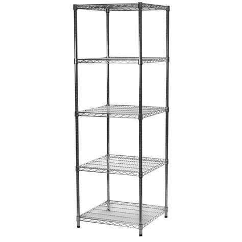 24 X 24 Shelf by 24 Quot D X 24 Quot W Wire Shelving Units With Five Shelves Chrome