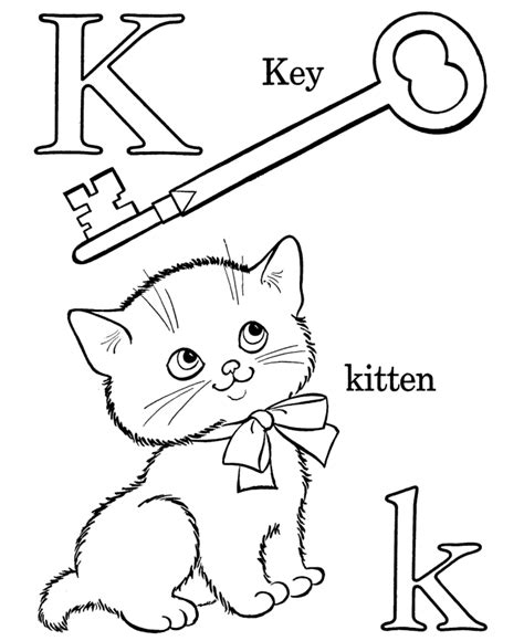 color that starts with the letter k farm alphabet abc coloring page letter k educational