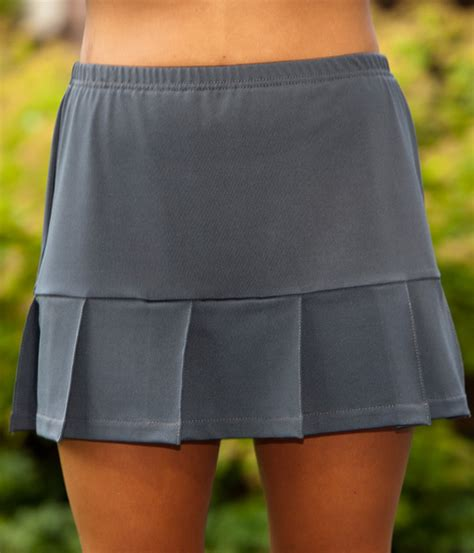 pearl or charcoal pleated skorts from petitie to plus
