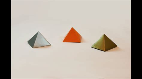 Make A Paper Pyramid - how to make a paper pyramid