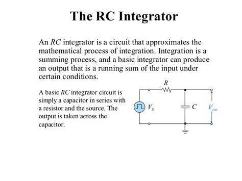 application of differentiator and integrator circuits rc and rl differentiator and integrator circuit