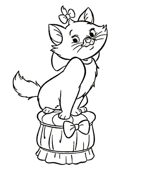 the marie cat coloring pages team colors