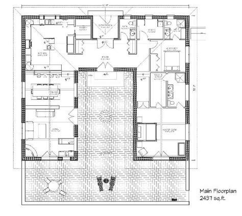 mexican hacienda house plans mexican style courtyard house plans