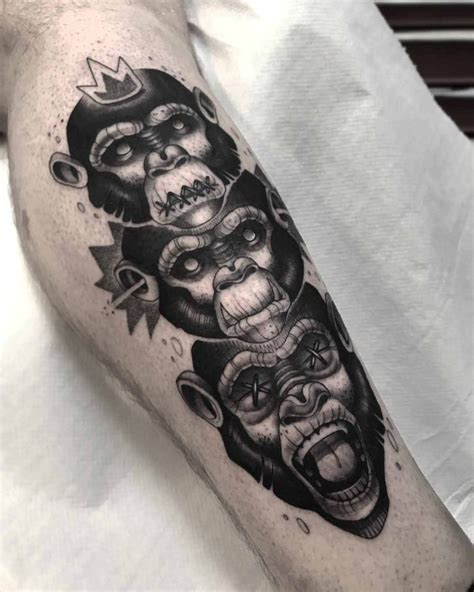 monkey tattoos for men three wise monkeys best ideas gallery