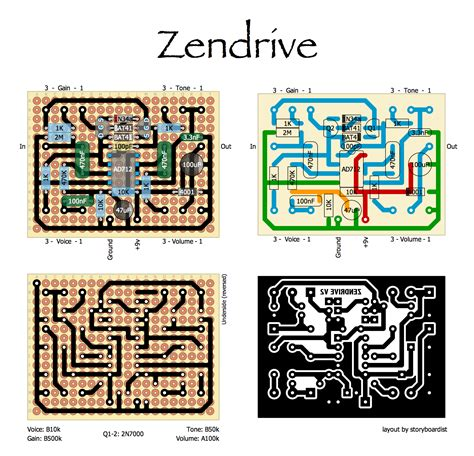 zendrive layout perf and pcb effects layouts lovepedal hermida audio zendrive
