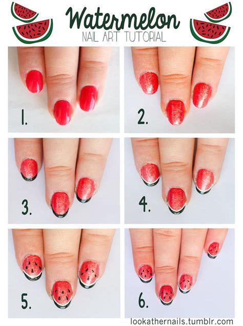 tutorial nail art polveri glitter watermelon nail art tutorial for a fresh and fun summer
