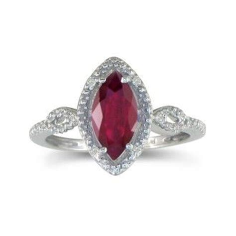Ruby 3 4ct 3 4ct marquise ruby and ring in 10k white gold