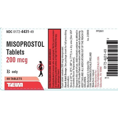Harga Misoprostol Per Tablet Misoprostol 200mcg Per Tablet Manufacture May Vary