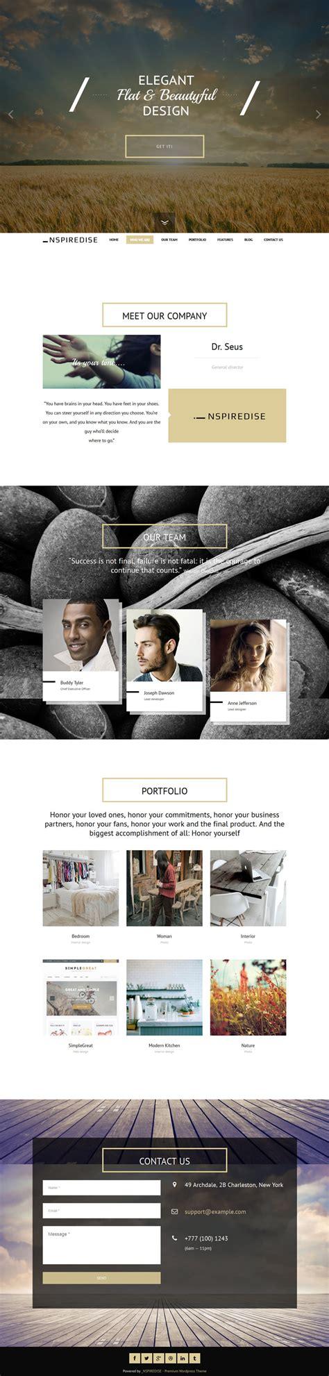 html themes portfolio nspiredise portfolio parallax theme flatdsgnflatdsgn
