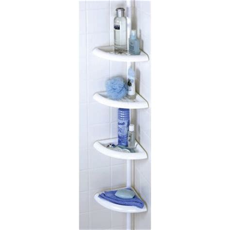 White Shower Caddy zenith products 2104w 4 tier corner shower caddy white atg stores