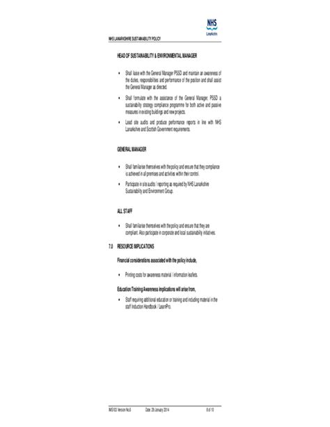 sustainability policy template sustainability policy free