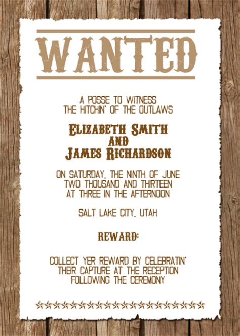 western wedding invitations templates western wedding invitation wedding invitation templates