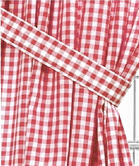 red checked curtains red gingham check window long curtain available in many