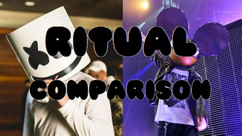 marshmello ritual marshmello ritual comparis 248 n original vs deadmau5