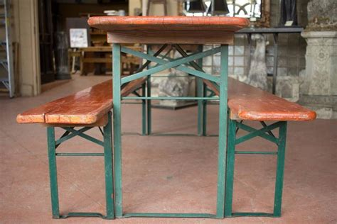 german beer table and bench vintage german beer festival table and benches for sale at