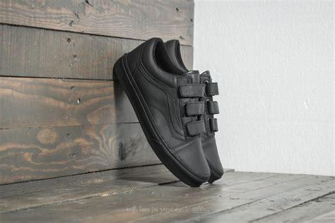 Vans Oldskool Mono Vintage Black vans skool v mono leather black footshop