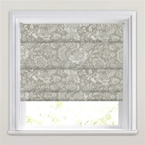 black patterned roman shades shimmering silver grey cream velvet floral patterned