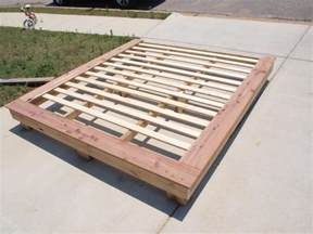 Bed Frame Yard Diy King Size Platform Bed Frame Plans Woodworking