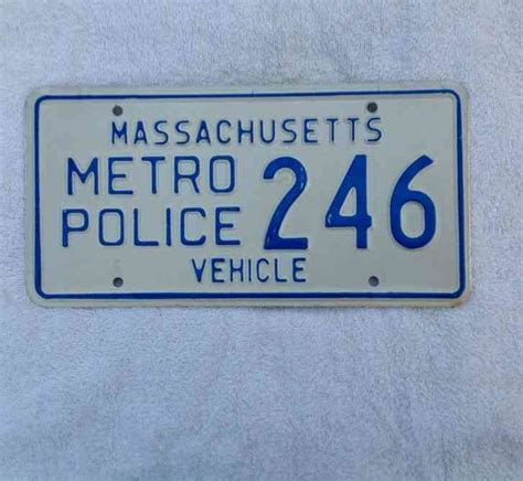 massachusetts metro police license plate