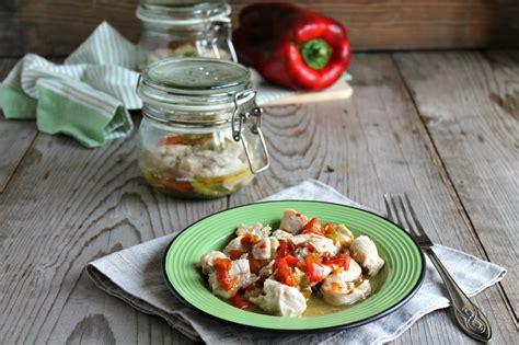 peperoni in vaso pollo e peperoni in vaso cottura al microonde