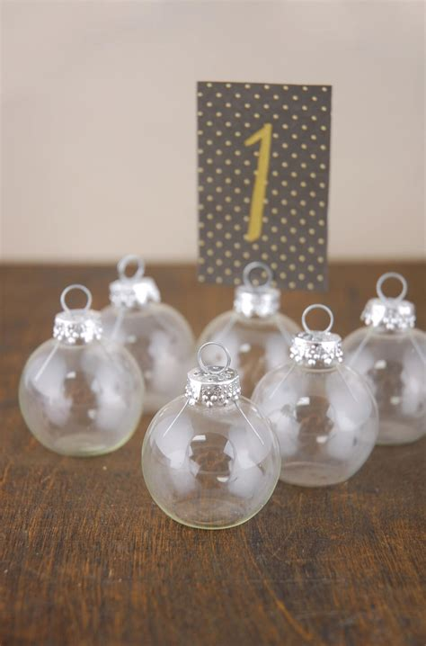 ornament place card holder 1 5in set of 6