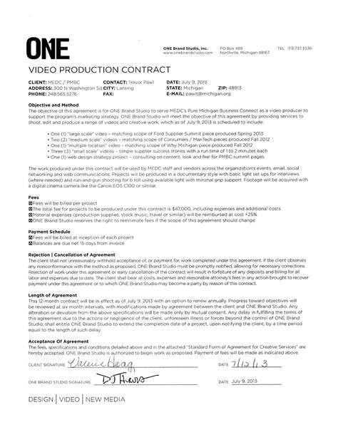 co production agreement template sle production contract for free